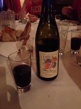 Carmine's : Great wine selection!