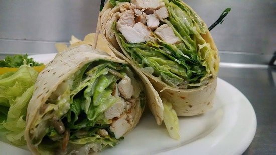 Second Story Restaurant in the Ephraim Shores Motel: Chicken Caesar Wrap