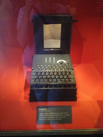 International Spy Museum: Enigma coding machine from WWII