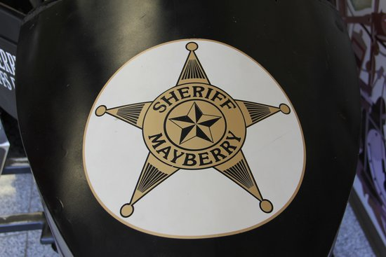 The Andy Griffith Museum : Sheriff star on front of sidecar