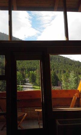 Fox Hotel & Suites: view through balcony windows