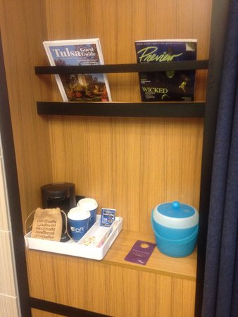 Aloft Tulsa : coffee, teas, ice, magazines