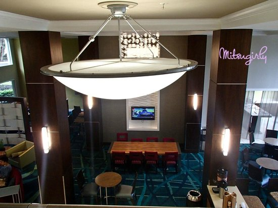 SpringHill Suites Fort Lauderdale Airport & Cruise Port : dining lobby area