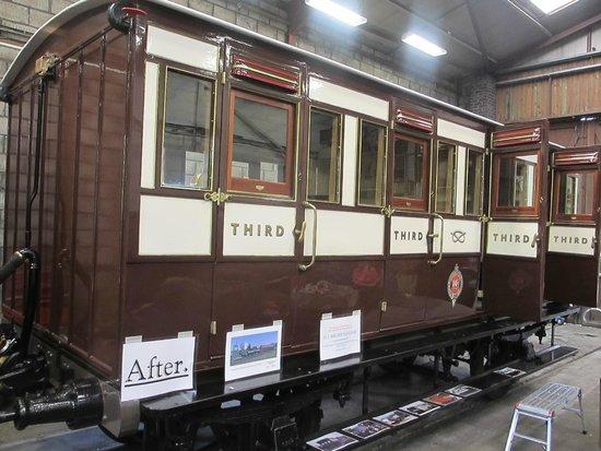 Churnet Valley Railway: Restored vintage North Staffordshire Railway coach