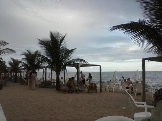 Resort La Torre: Estrutura da praia.