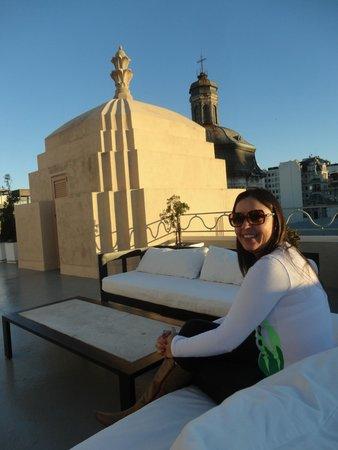 Moreno Hotel Buenos Aires: Área externa da sala do café da manhã