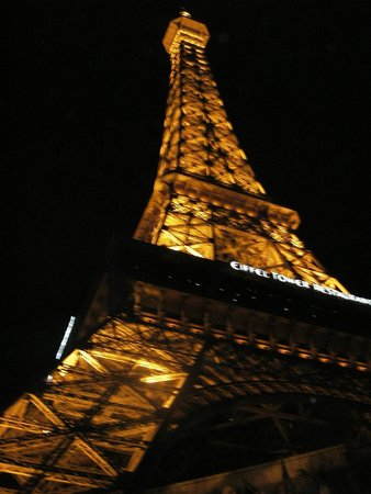 Eiffel Tower Experience at Paris Las Vegas : Looking up, Eiffel Tower, Las Vegas