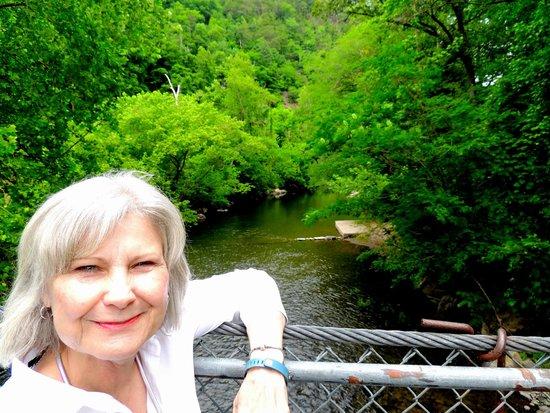 Swinging Bridge: over the river
