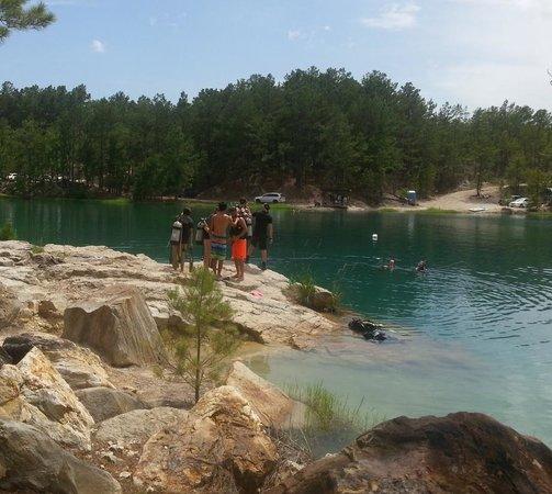 Texan Scuba Inc: The beautiful Blue Lagoon Huntsville, Texas