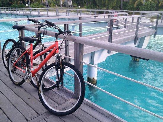 The St. Regis Bora Bora Resort: Bike parking at our villa