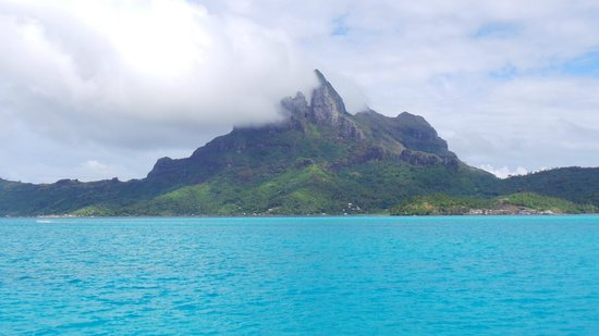 The St. Regis Bora Bora Resort: view from resort
