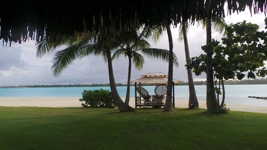The St. Regis Bora Bora Resort: View from beach