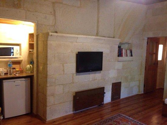 Esbelli Evi Cave Hotel: Living room