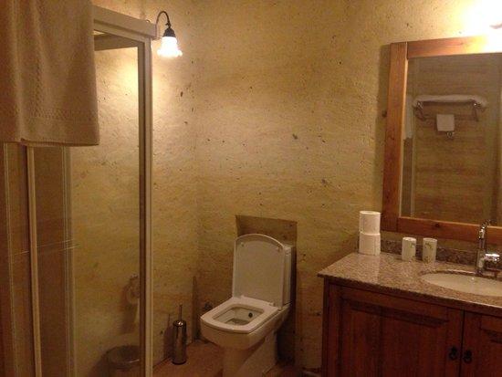 Esbelli Evi Cave Hotel: Toilet