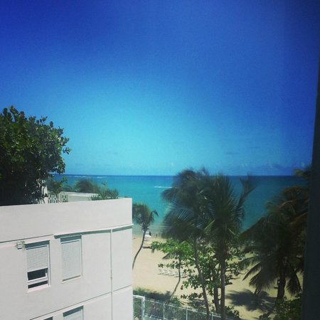 San Juan Water & Beach Club Hotel: View from the window.