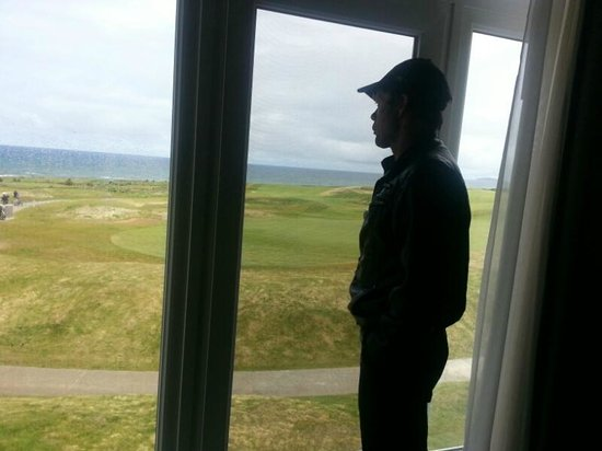 Cabot Links Golf Course: View out our room window