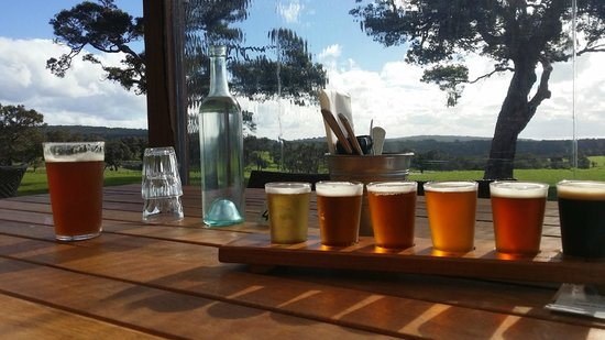 Eagle Bay Brewing Co: beer tasting plate - #1 was my fave