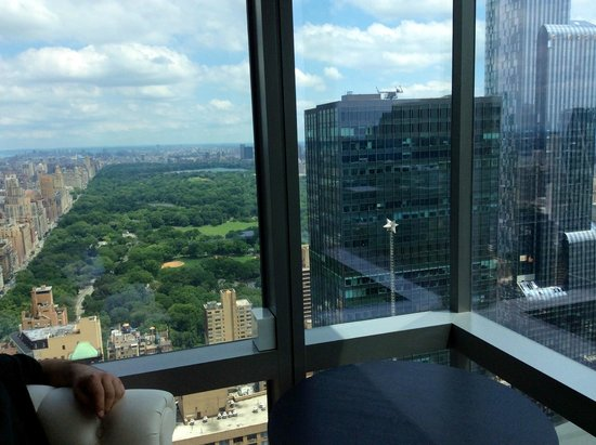 Sitting area with a view of central park picture of for Residence a manhattan new york