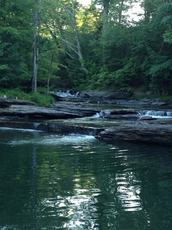 The Woodstock Inn on the Millstream: Falls on the property