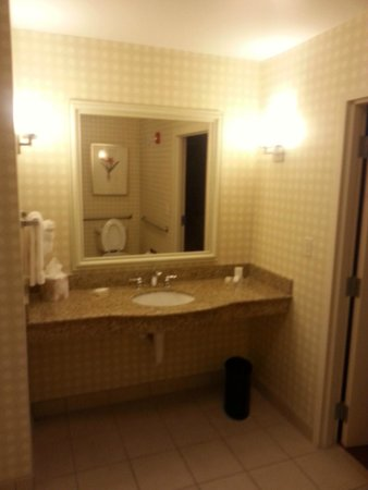 Hilton Garden Inn Fort Myers Airport / FGCU: Half Bath at entryway to suite