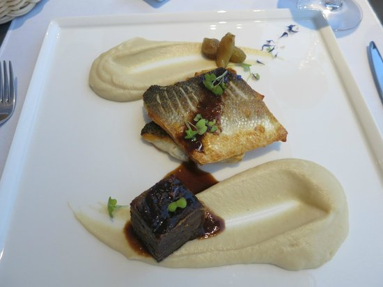 San Antonio Suites: delectable branzino and veal cheek main course