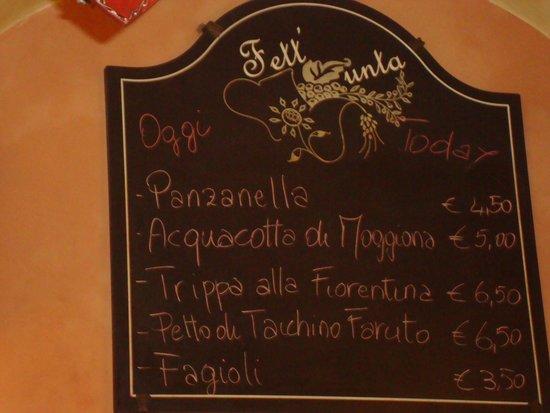 La Fett'Unta: Special board