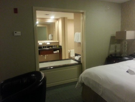 Town & Country Inn and Suites: From room thru pocket doors to bathroom