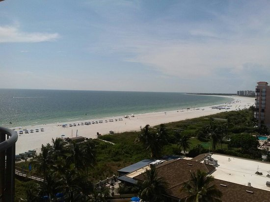 Hilton Marco Island Beach Resort--CLOSED FOR RENOVATIONS; REOPENING DEC. 1, 2017: View from room 1019.