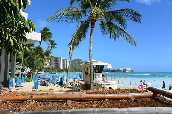 Outrigger Waikiki Beach Resort: Beach right in front of the hotel
