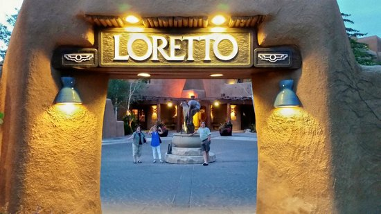 Inn and Spa at Loretto: Entry archway at night