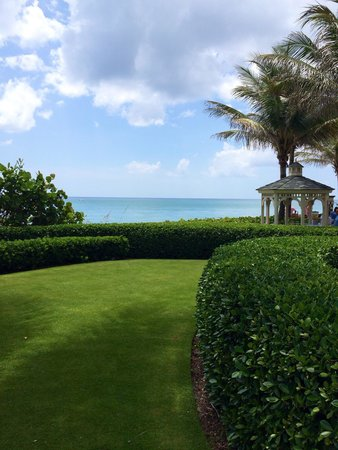 The Breakers: Lawn by the pool and beach