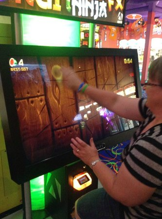 Arcade City at The Island: Even us big kids have fun playing games!  Loved Fruit Ninja