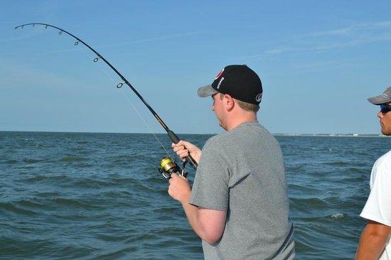 HHI Deep Sea Fishing: Fighting the one that got away!