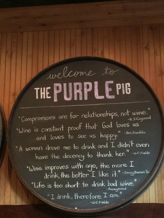 The Purple Pig : Signage/decor