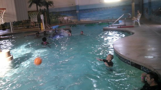 Carribean Indoor Water Park: Basketball hoops.