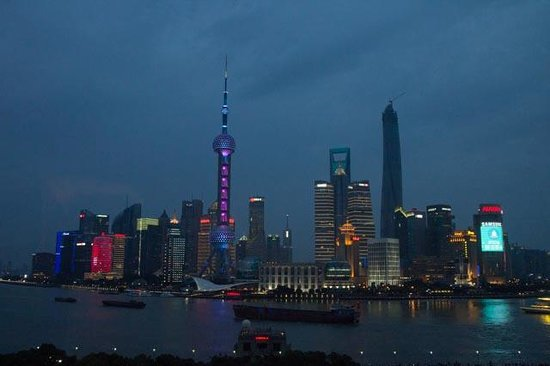 The Peninsula Shanghai : View from the rooftop bar