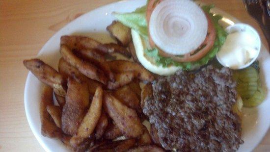 Merlin's Family Restaurant: California Burger with Onion Petals
