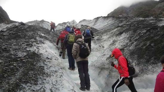 Fox Glacier Guiding: Hiking up Fox Glacier