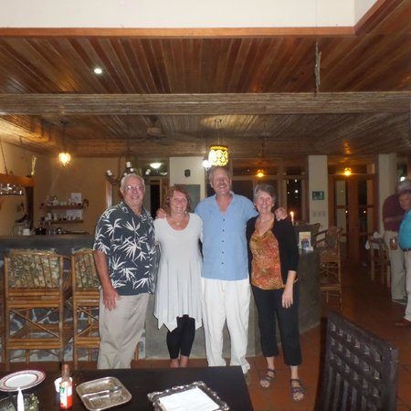 Rio Magnolia Nature Lodge : Maureen and John with us on our last night