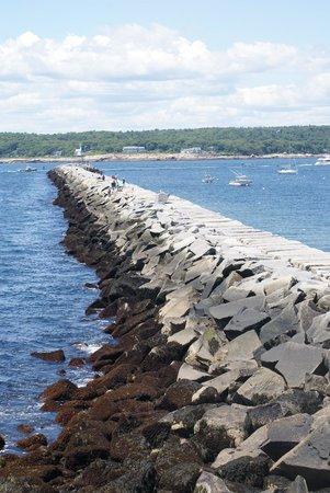 Eastern Point Lighthouse: Breakwater - Gloucester Harbor
