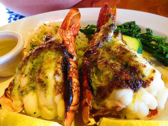 Duke's Beach House : ROASTED TRISTAN DA CUNHA LOBSTER TAIL; Half pound, garlic basil glazed, sustainable...