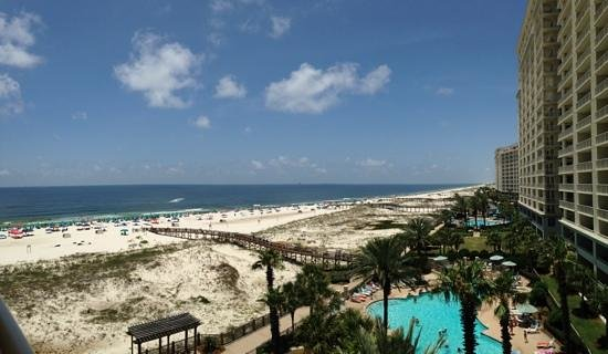 The Beach Club: view from 6th floor Avalon tower