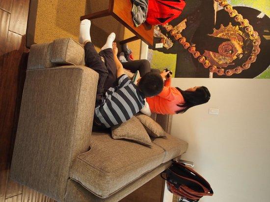 Hotel Indigo Anaheim : sofa bed which can sleep additional of 2 pax