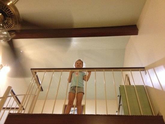 "Prytania Park: My kiddo looking down from her ""room"""