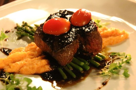 TawaNN: Grilled Australian Tenderloin with Mashed Sweet Potatoes and Truffle Sauce