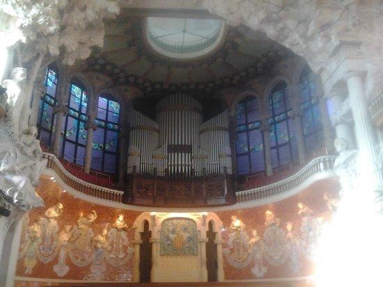 Palais de la Musique Catalane (Palau de la Musica Catalana) : El órgano