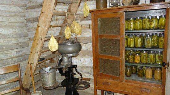 Lyndon B. Johnson State Park & Historic Site: Pantry on living farm