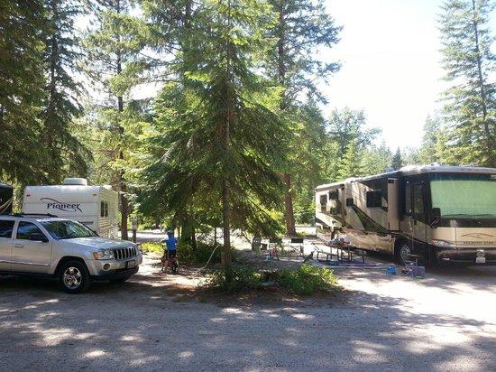 Thousand Trails: Campsite 52 on left.