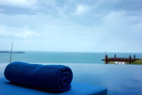Sandalwood Luxury Villas : Las hamacas de la piscina.