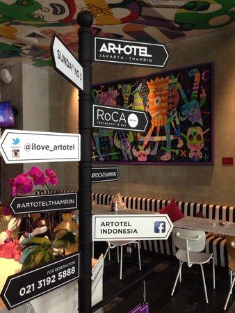 ARTOTEL Thamrin - Jakarta: The dining area